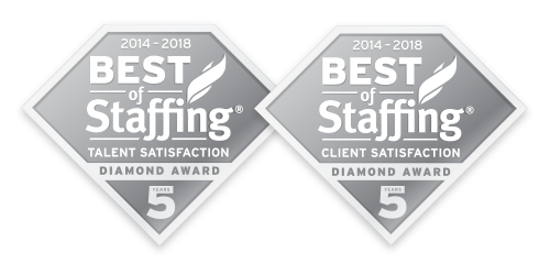 Award: 2018 Best of Staffing Diamond Award 5 years